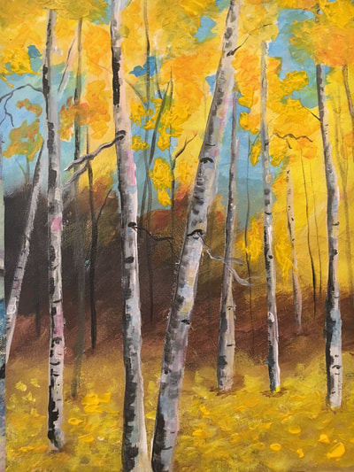 Colorado Aspens painting